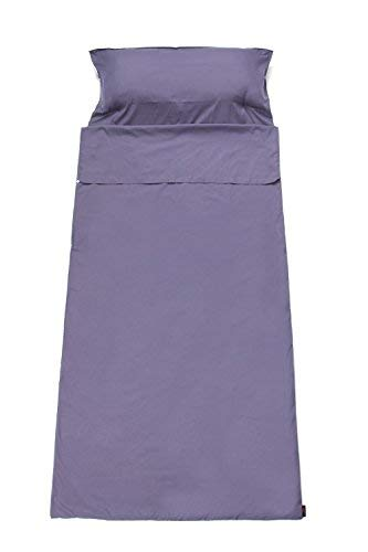 WILD-WIND Lightweight Backpacking Sleeping Bag Liner Travel Comping Hiking Sheet and Sack for Outdoor Airport Hotel(Purple) (Best Budget Backpacking Sleeping Bag)