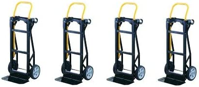 Amazon.com: Harper Trucks Lightweight 400 lb Capacity Glass Filled Nylon Plastic Convertible Hand Truck and Dolly (4): Office Products