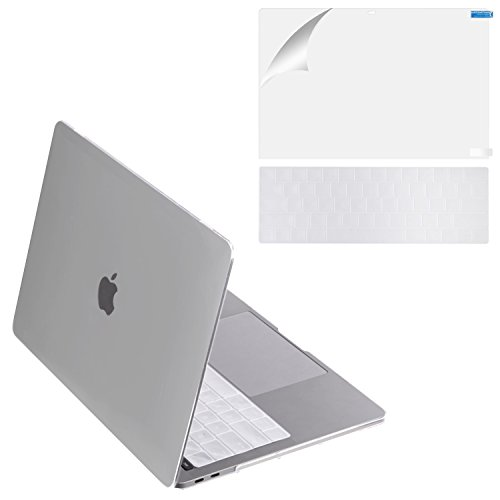 MacBook Pro 13 Case 2017 & 2016 Release A1706/A1708, Mittly Plastic Hard Case Shell Cover with Keyboard Cover &Screen Protector for MacBook Pro 13 Inch with/without Touch Bar & Touch ID, Crystal Clear
