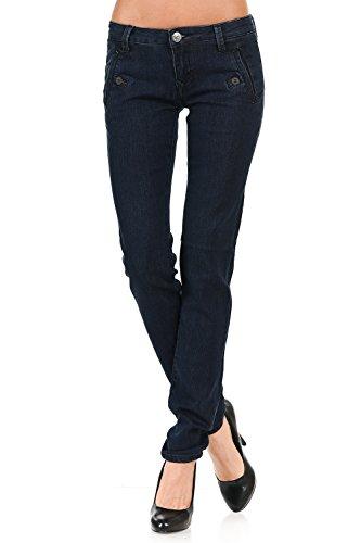 Slim Fit Skinny Jeans (Atari Blue ,5) (Bright Skinny Jeans)
