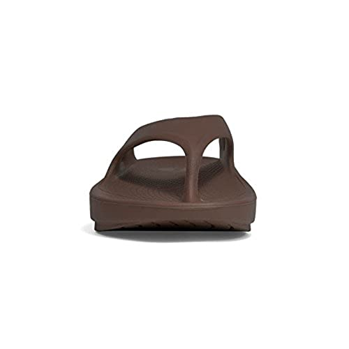 fc1e395a5d2c Oofos OOriginal Unisex Thong Sandal - Mocha (Includes Bonus Red Foot  Massager Roller) 80