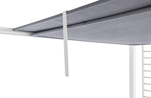 Cenador para jardín o terraza de aluminio color blanco con tela de paneles deslizantes 2, 8 x 2, 8 altura 220 cm: Amazon.es: Jardín