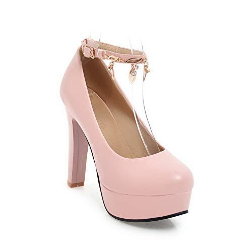 EU DGU00613 Compensées 36 Rose Sandales AN 5 Femme Rose 4wS88dq