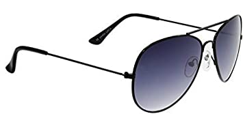2f2cc5bd49db Small Adult Mini Aviator Sunglasses with Black Frames   Black Gradient  Smoked Lenses Offering Full UV400