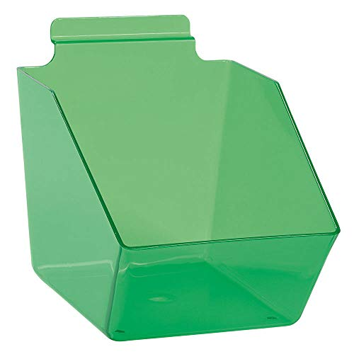 "Buy All Store 10 Slatwall Bins Dump Acrylic Clear Green 7 ½"" X 6 X 5 ½"" Plastic Retail Display -  buyallstore"