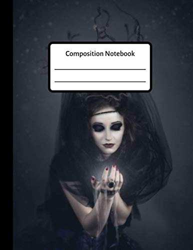 Halloween Cauldron Spells (Composition Notebook: Scary Halloween Witch Goth Lined Journal, Diary for)