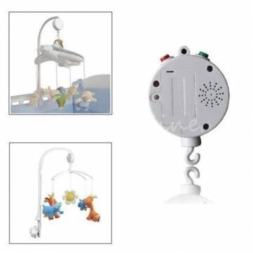 12 Melodies Song Baby Mobile Crib Bed Bell Electric Autorota
