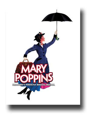 (Mary Poppins Poster Broadway Musical Promo 11 x 17 inches Umbrella)