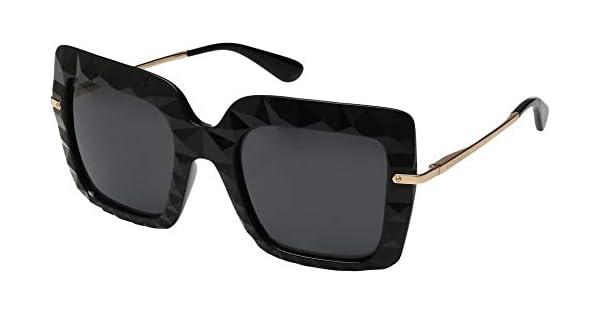bb574d101d6f4 Dolce   Gabbana Dg 6111 - Óculos De Sol 501 87 Preto E Doura   Amazon.com.br  Amazon Moda