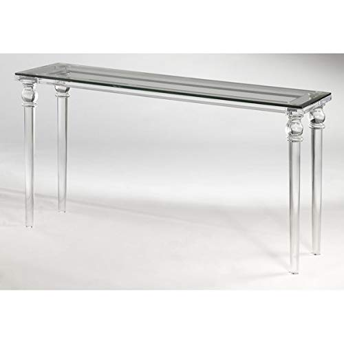 Acrylic Console Table With Turned Legs Hand Sanded Console Table Clear