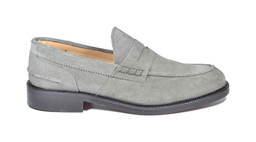 Saxone Of Scotland Men's Loafer Flats Grey Grey bCnNtm1gR