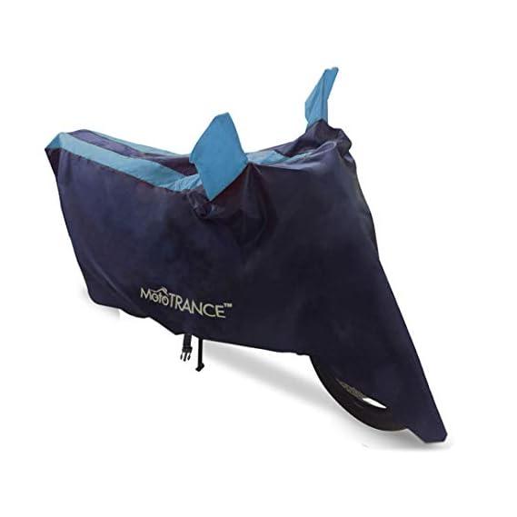 Mototrance - Sporty Arc Blue Aqua Bike Body Cover for Honda DIO