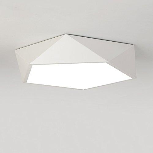 Modern ceiling light amazon electrobpmodern simple art ceiling light geometric led light max 18w with led lights painted finish aloadofball Images
