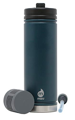 Mizu 22 oz. 360 V7 Adventure Kit Stainless Steel Water Bottle, Midnight, One Size