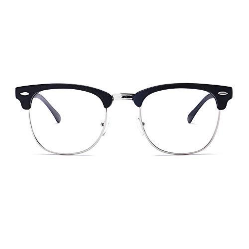 Unisex Blue Light Blocking Glasses Square/Half Frame Eyeglasses Frame Anti Blue Ray for Computer Game ()