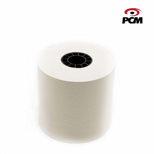 Rollo de Papel Bond 57mmx60mm caja con 100 piezas. Ideal para sumadoras, calculadoras electrónicas o registradoras. PCM