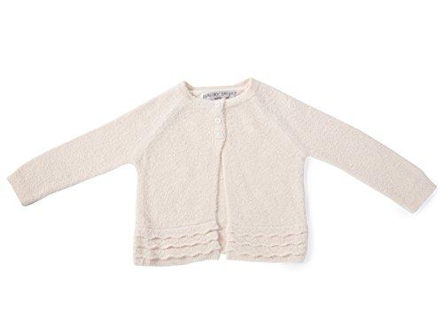 Barefoot Dreams CozyChic LITE Girl's Infant Heirloom Cardigan (L (18-24 Months), Pink) (Heirloom 18 Light)