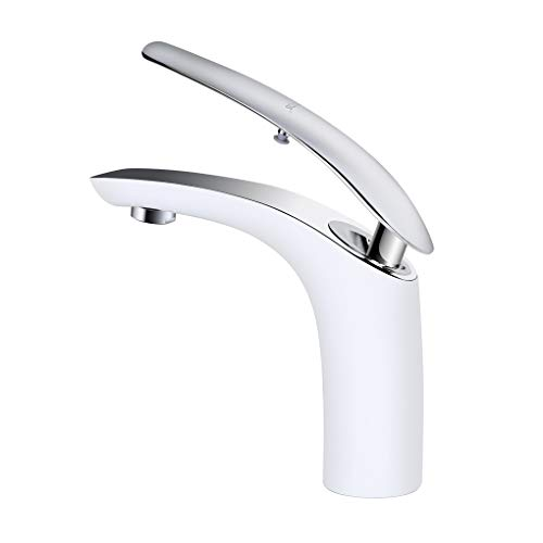 Derpras Bathroom Sink Faucet Single Hole Washroom Basin Mixer Taps
