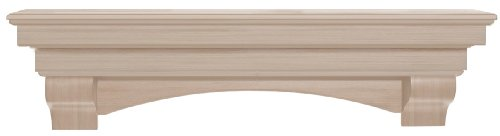 Pearl Mantels 495-72 Auburn Arched 72-Inch Wood Fireplace...