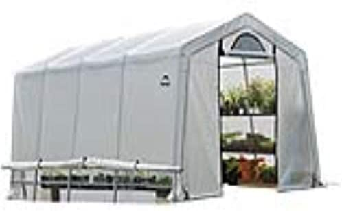ShelterLogic 10 x 20 GrowIT Greenhouse-in-a-Box Flow Peak Roof Style Easy Access Outdoor Grow House with Translucent Waterproof Cover