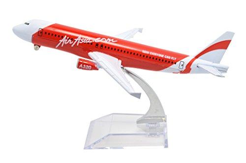 TANG DYNASTY 1/400 16cm エアアジア AIR ASIA エアバス A320 com 赤い 高品質合金飛行機プレーン模型 おもちゃ