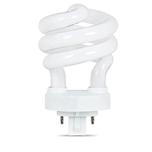 Newest Technology Bright Lighting BSP13-4E White Spiral Compact Fluorescent Light Bulb Lamp 4-Pin Plug-In with G24q-1 Base, CFL 3000K Energy Eco Saving Bulb 60W Equivalent Replacement Using Only 13W Watts