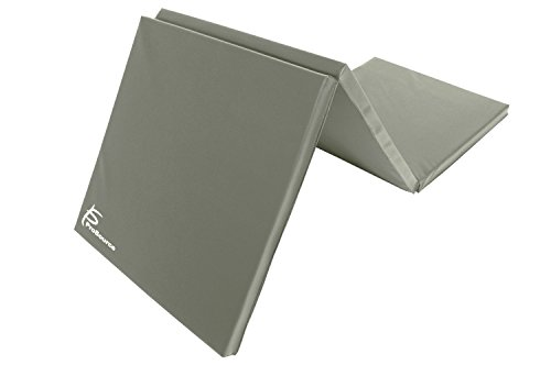 ProSource Tri-Fold Folding Thick Exercise Mat 6'x2' with Carrying Handles for MMA, Gymnastics Core Workouts, Grey price