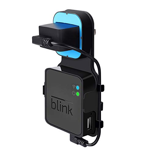 Outlet Wall Mount for Blink Sync Module,LANMU Mounting Bracket Holder Hanger for Blink Sync Module Compatible with Blink XT2,Blink XT and Blink Indoor Home Security Camera with Charging Cable ()
