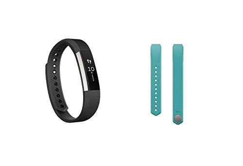 Fitbit Alta (Small, Black) + Accessory Band (Small, Teal) by Fitbit