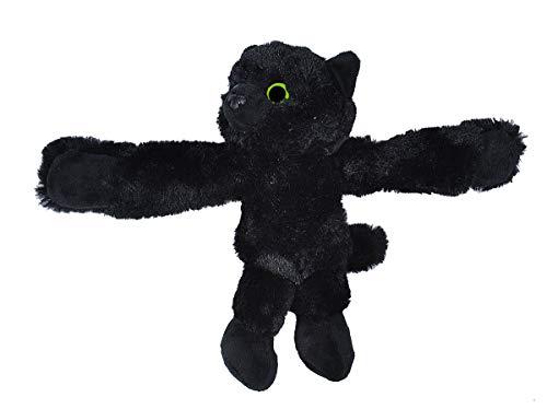 Wild Republic Huggers Black Cat, Panda Plush Toy, Slap Bracelet, Stuffed Animal, Kids Toys, 8 Inches]()