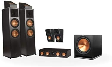 Klipsch RP-8000F 5.1.2 Dolby Atmos Residence Theater System – Ebony