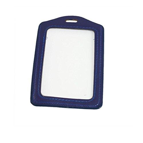 DealMux Kunstleder Business ID-Karten-Vertikale-Halter, 5 Stück, Blau (a12042400ux0538)