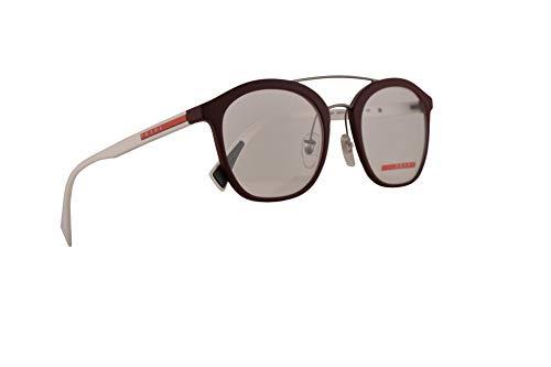 Prada PS02HV Eyeglasses 50-21-135 Bordeaux Rubber w/Demo Clear Lens U601O1 VPS 02H PS 02HV ()