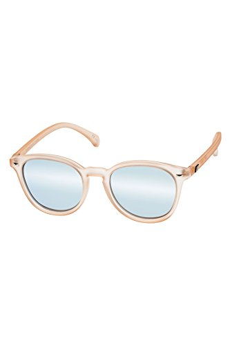 Le Specs Women's Bandwagon Sunglasses, Raw Sugar/Ice Blue Revo Mirror, One - Sunglasses Le Specs