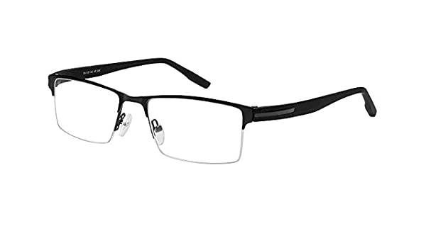 d64a9c36d88 Amazon.com  Bocci Women s Eyeglasses 392 04 Black Half Rim Optical Frame  54mm  Clothing