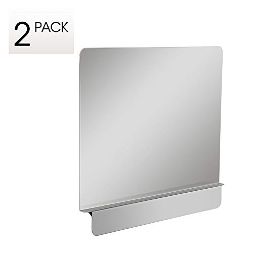 Zipcase 2 packs Stainless Steel 20-1/2' W x 18' H Universal Side Splash for Commercial Fryers fitting 0.5' - 1' Side, Pack of 2