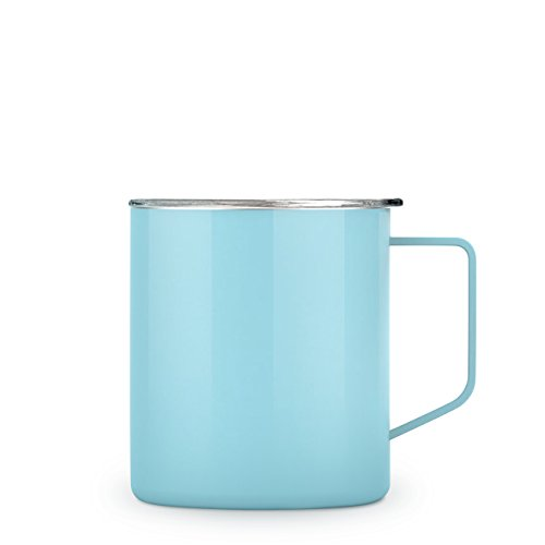 Maars Townie Insulated Coffee Mug, 14 oz | Double Wall Vacuum Sealed Camp Cup - Seafoam Blue -