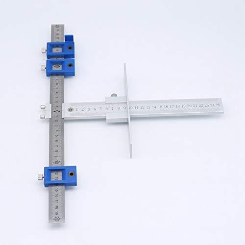Aluminum Alloy Cabinet Hardware Drawer Pull Jig Wood Drilling Dowel Hole Jig Set