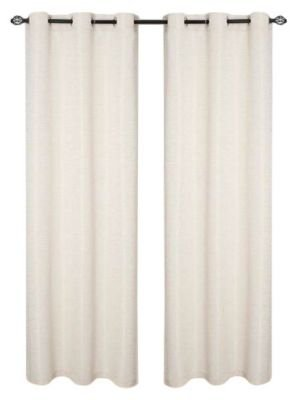 Dainty Home 2-Piece Textured Window Grommet Panel Pair Set, 78 by 84-Inch, Moderna, Ivory (78 Curtain Panel)