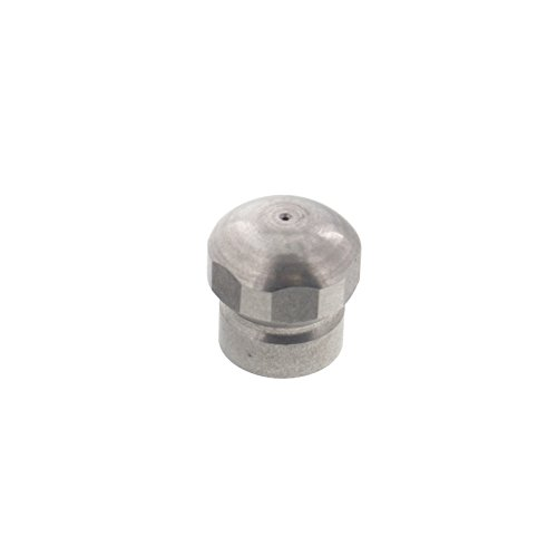 Erie Tools Button Nose 1/8 Sewer Jetter Drain Cleaning Nozzle, 3.0 Orifice Size, 4000 PSI, Max Temp 300 F by Erie Tools