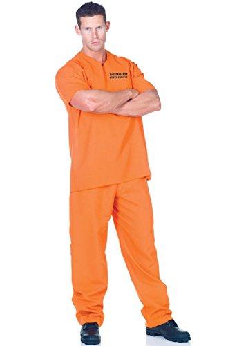 Convict Jail Prisoner Orange Public Offender Outfit Plus Size -