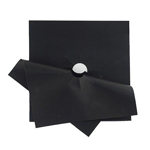 Gosear 6 PCS Estufa Reutilizable Gruesa para Estufa de Gas Protector Superior del Quemador Alcance del Gas Revestimiento Sábanas 27 x 27 cm Negro: ...