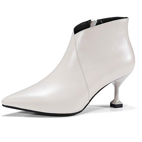 und Stiefel Winter Stiefel High Stiefel Herbst Nackte Low Lederstiefel Stiefel Spitzen Heels Kurze Martin Spitz Damenstiefel Stiefelmode 5YEFqw