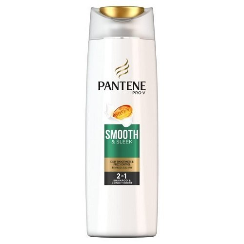 Pantene 2-in-1 Shampoo and Conditioner Smooth and Sleek 400 ml - Pack of 6 by Pantene