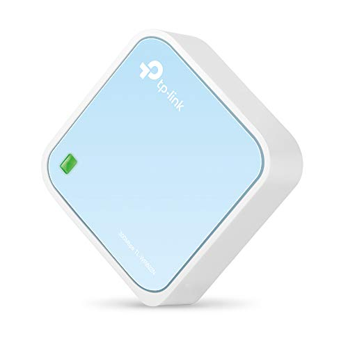 TP-Link N300 Wireless Portable Nano Travel Router - WiFi Bridge/Range Extender/Access Point/Client Modes, Mobile in Pocket(TL-WR802N)