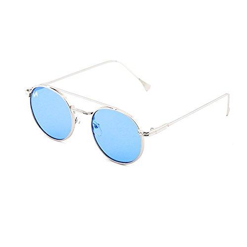 Gafas sol Plata mujer hombre de Transparente redondo TWIG Azul MONTESQUIEU RaP1Rq