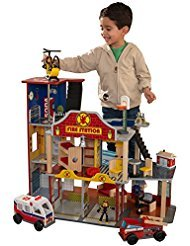 Deluxe Garage Playset - Kidkraft Deluxe Fire Rescue Set [Toy] Part No. 63214