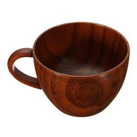 1Pc 260ml Primitive Handmade Wooden Tea Cup Beer Mugs With Handgrip Tableware Drink Milk Coffee Cups Bar Drinkware Eco-friendly