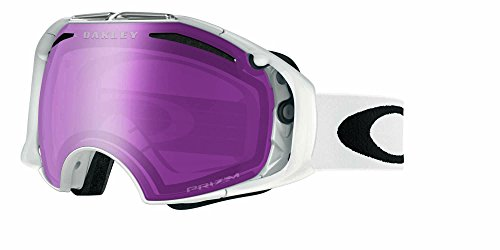 Oakley Airbrake Snow Goggles, Polished White, Prizm Rose, Medium
