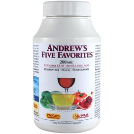 Andrew's Five Favorites 500 Capsules by Andrew Lessman